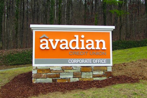 AvadianCU Corporate Office Sign