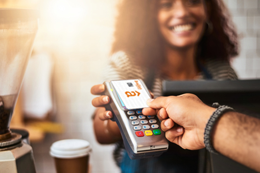 Had Using Credit Card at Coffee Shop